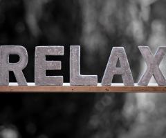 Schriftzug auf dem Relax steht